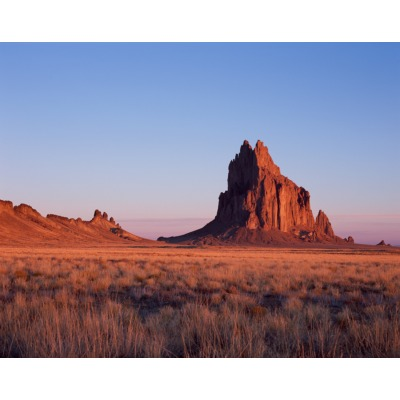 Morning light, Shiprock, New Mexico