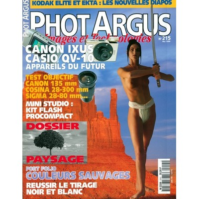 Photo couverture interview dans le magazine Phot Argus